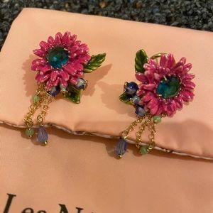 Les nereides sunflower earrings